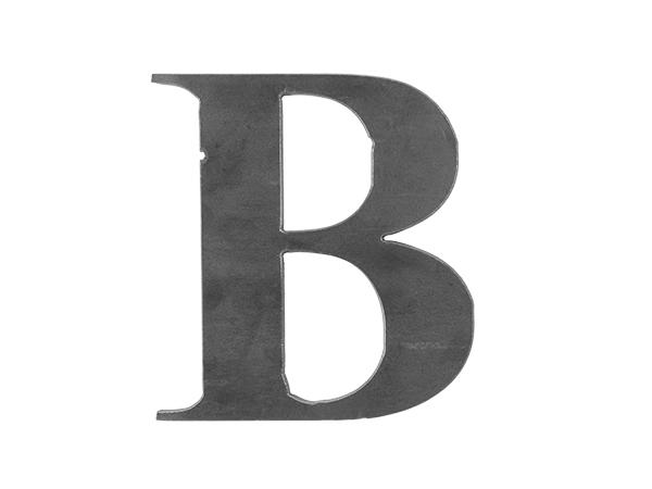 Steel letter B
