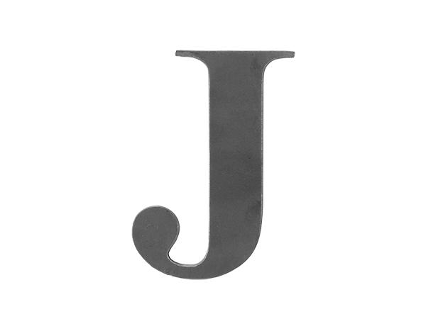 Steel letter J