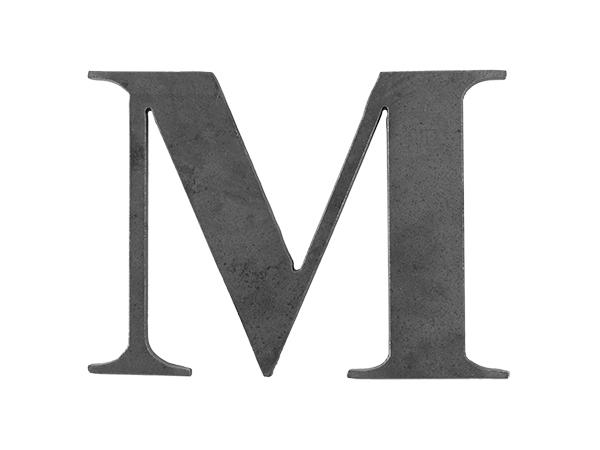 Steel letter M