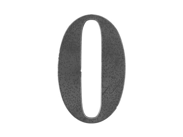 Steel letter 0