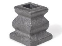 Cast iron decorative base no ear, 0.5 inch