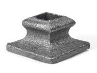 Cast iron short square shoe, 0.5 inch