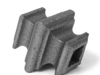 Cast iron square baluster collar, 0.5 inch
