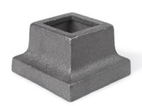 Cast iron, square shoe 1.25 inch