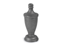 Cast iron, urn style finial, 1.5 inch round