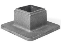 Cast iron wide base square shoe, 1.25 inch