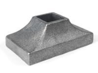 Rectangular cast iron square shoe, 1 inch