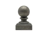 Cast iron 2-inch round ball cap