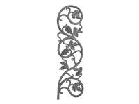 Cast iron vineyard casting, 28x7.5-inch
