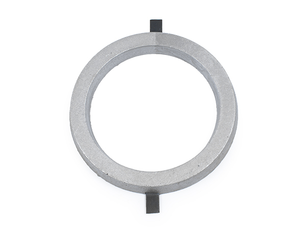 Aluminum circle 5.25 inches with tabs.