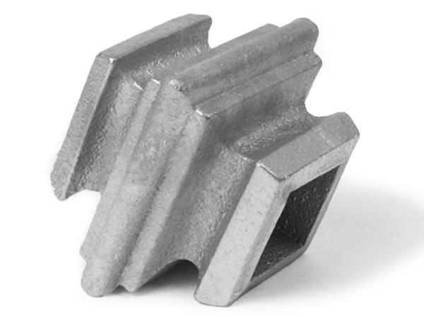 Aluminum square baluster collar, 0.75-Inch
