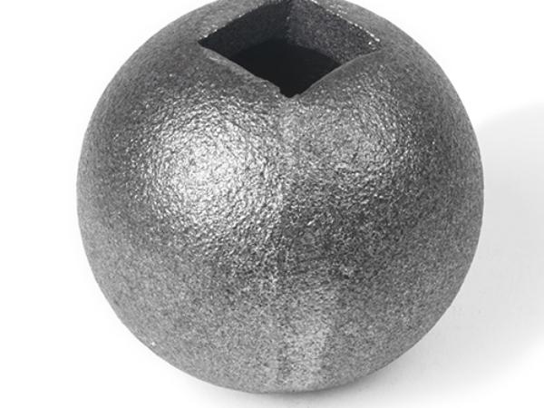 Cast iron ball square collar, 0.75 inch