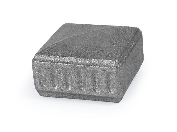 Cast iron classic design cap, 2 x 2 inch