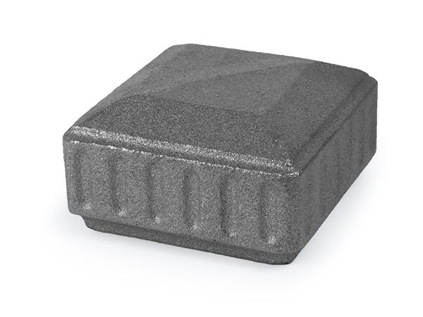 Cast iron classic design cap, 3 x 3 inch