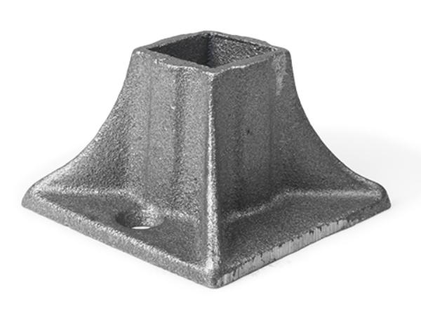 Cast iron heavy shoe, 2 holes 1 inch