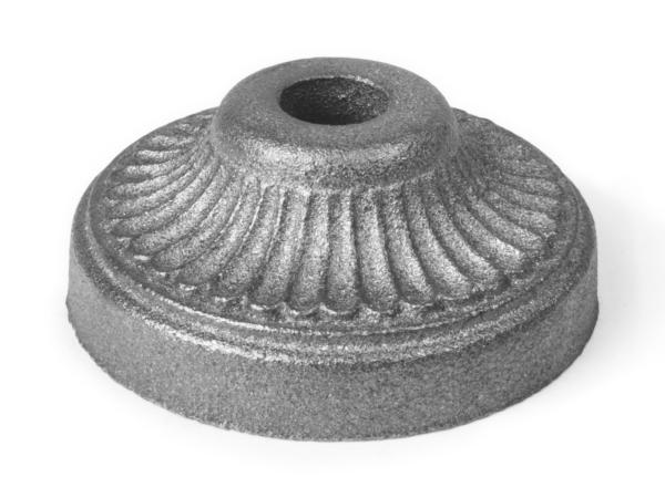 Cast iron large round base, 0.5 inch