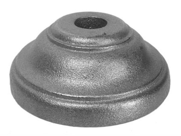 Cast iron round base, 0.75 inch