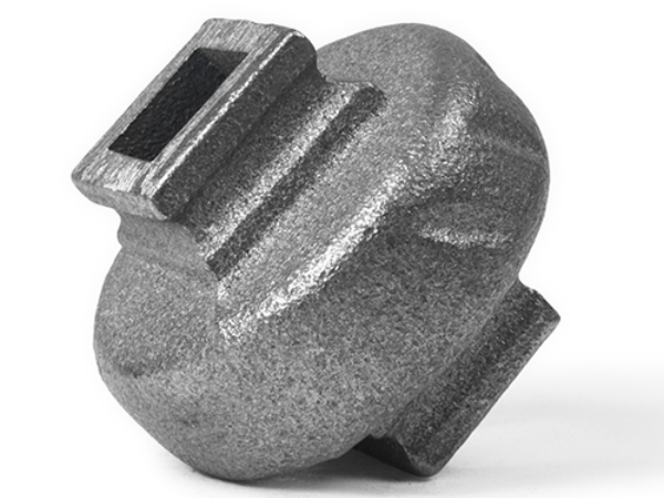 Cast iron round square baluster collar, 0.5 inch