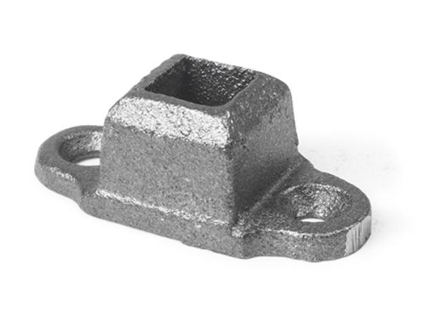 Cast iron shoe base, 2 ear 0.5 inch