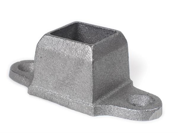 Cast iron shoe base, 2 ear 1 inch