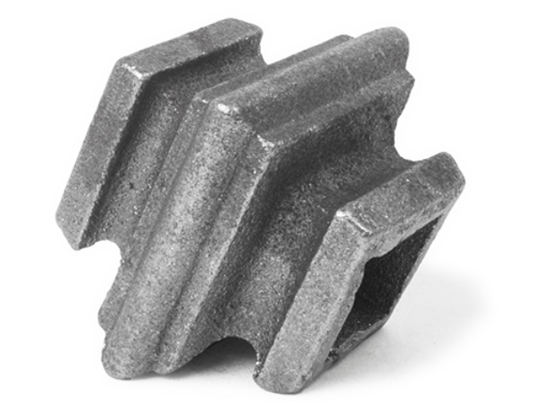Cast iron square baluster collar, 0.75 inch