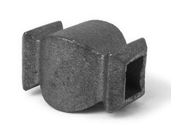 Cast iron, tall square collar, 0.5 inch