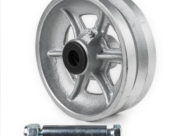 Cast iron, V Grove Wheel, 6 inch