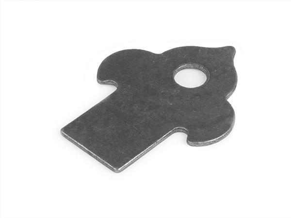 Decorative weld tab, 2.625 x 2-inch