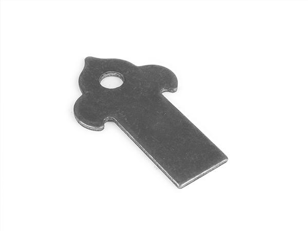 Decorative weld tab, 3.5 x 2-inch