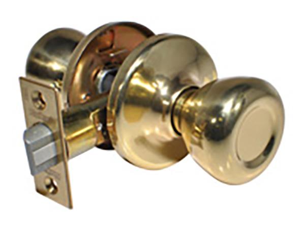 Kwikset Bright Brass Round Passage Knob