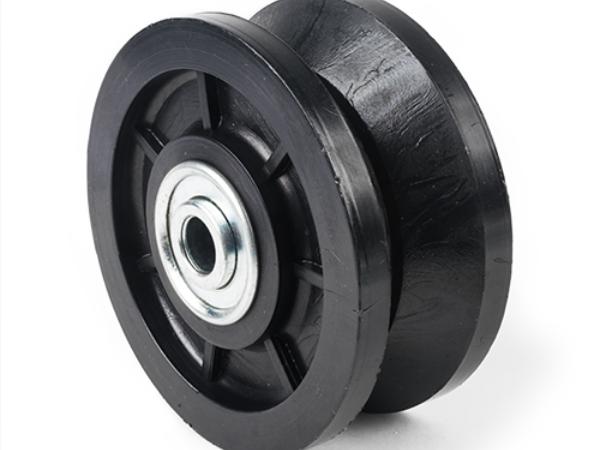 Nylon, V-Grove, wheel 4 inch