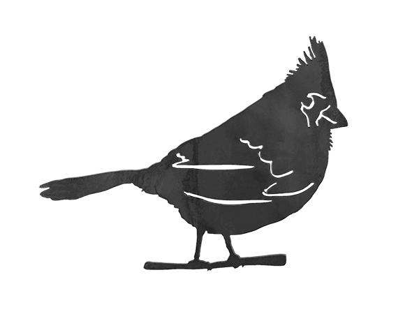 Plasma cut cardinal