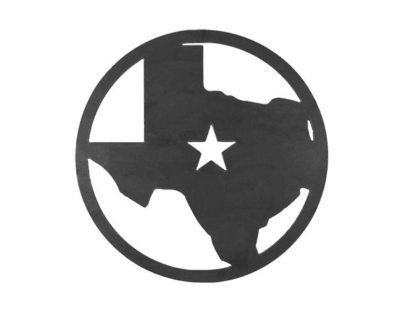 Plasma cut circle with Texas Star in the middle