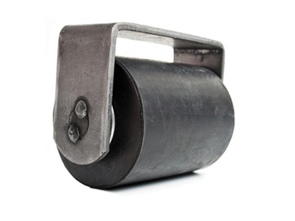 Rubber Roller 3 inch welded axle