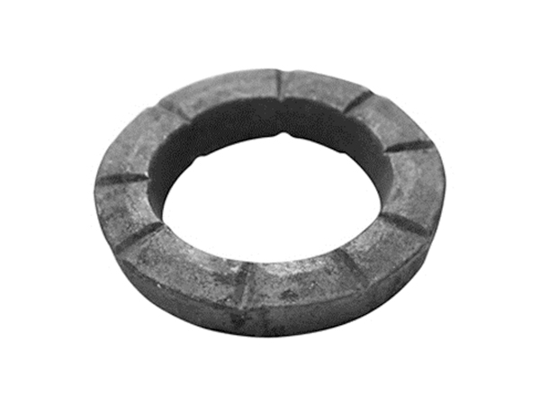 Square hammered face ring