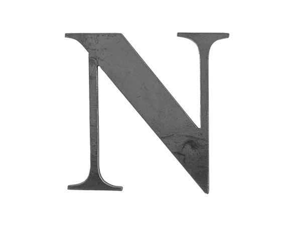 Steel letter N