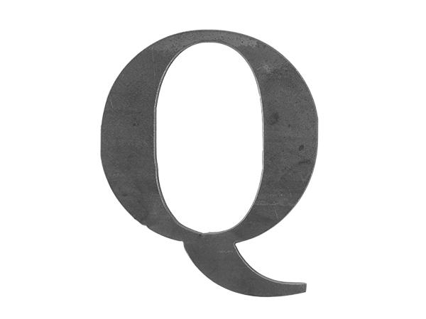 Steel Letter Q