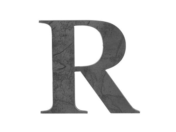 Steel Letter R