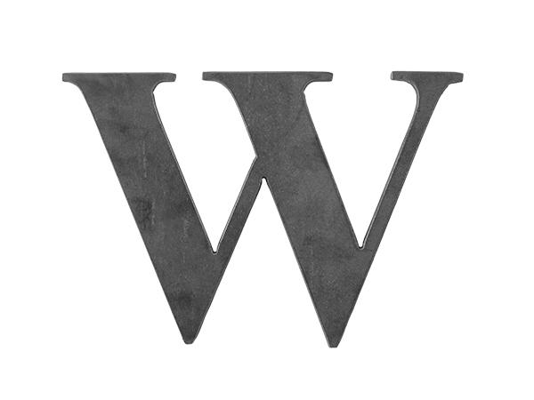 Steel Letter W