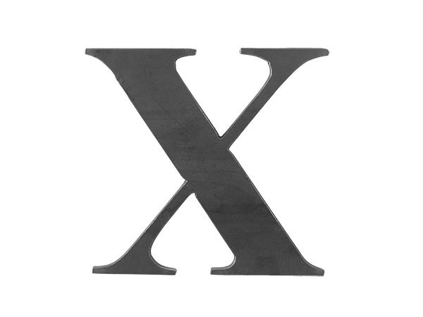 Steel Letter X