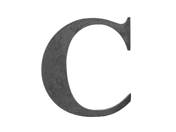 Steel letter C