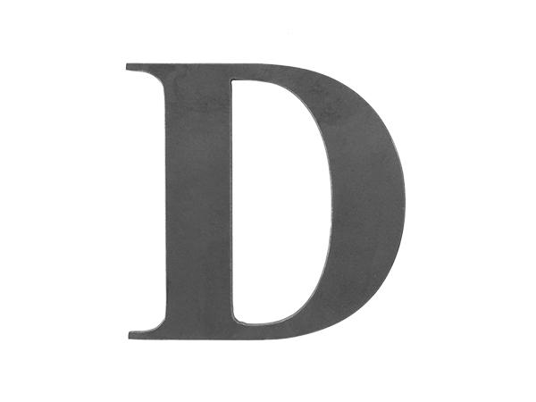 Steel letter D