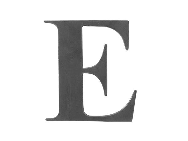 Steel Letter E