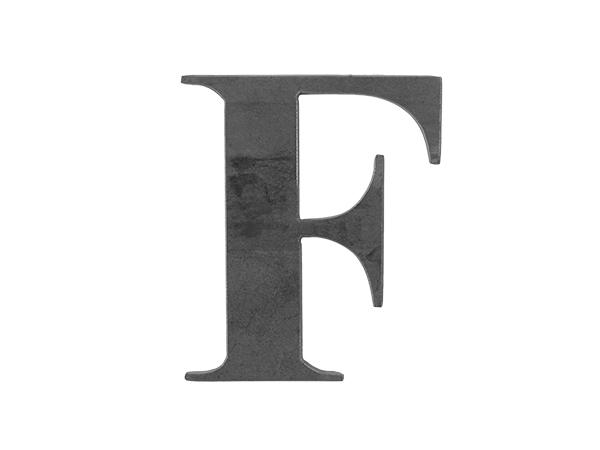 Steel Letter F
