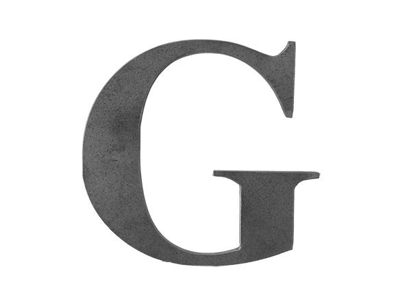 Steel letter G