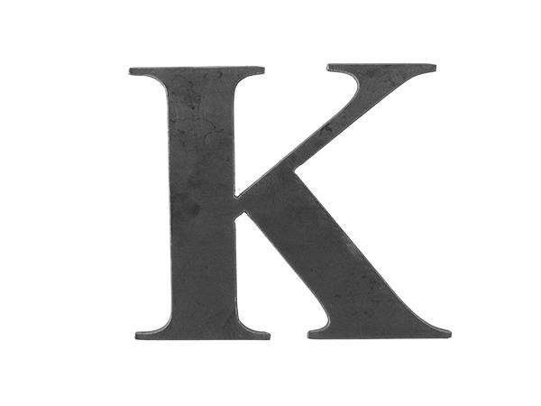 Steel letter K
