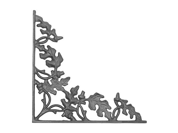 Cast iron 15-inch corner casting.