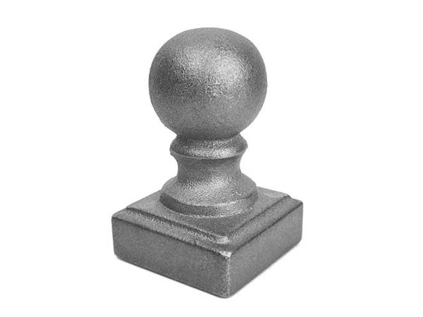 Cast iron, 2-inch ball cap