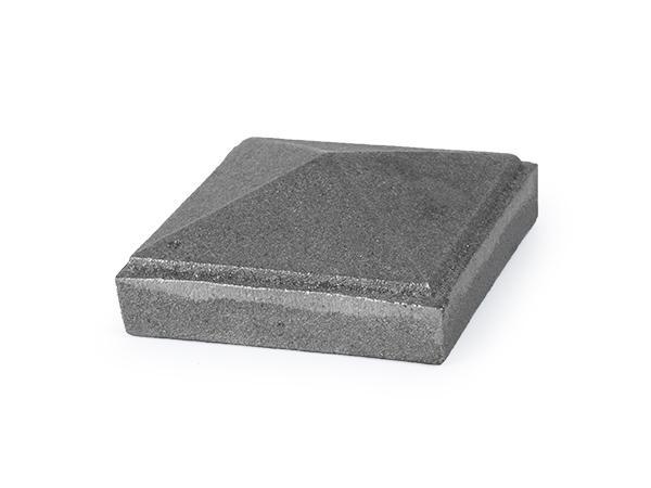 Cast iron 2.5-inch newel post cap.