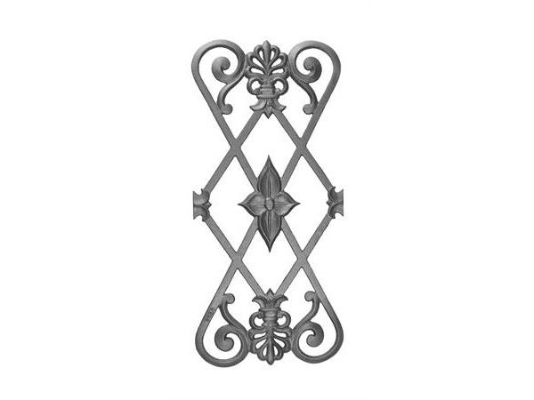 Cast iron, 22.5x10.25, railing casting